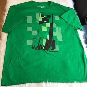 Minecraft Creeper Men's Tee Shirt Size XL